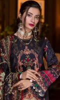 Printed Lawn Embroidered Front Printed Lawn Back Printed Lawn Sleeves Printed Chicken Kari Chiffon Dupatta Dyed Cambric Trouser