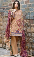 Shirt (3M) - 100% Viscose  Dupatta (2.5M) - Cambric Cotton  Lower (2M) - Cambric Cotton  Embroidery- Panel