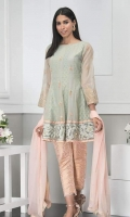 Masuri net peplum shirt with Handwork embellishments