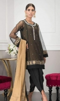 Net and masuri net tunic with  embellishments.