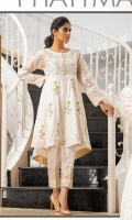 Masuri net & shirt with embroidery and embellishments.