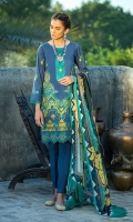 Front: 1.25 Mtr Lawn Embroidered Back: 1.75 Mtr Lawn Embroidered Dupatta: 2.5 Mtr Silk Pk Digital Print Trouser: 2.5 Mtr Dyed Cotton