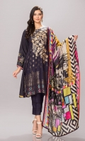 Front: 1.25 Mtr Jacquard Viscose Embroidered Back: 1. 25 Mtr Viscose Digital Print Sleeves: 0.65 Mtr Viscose Digital Print Dupatta: 2.5 Mtr Viscose Net Shawl Digital Print Trouser: 2.5 Mtr Dyed Viscose