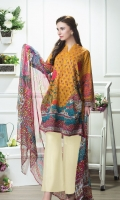 Shirt:  2.75 Mtr Lawn Digital Print  Sleeves:  0.65 Mtr Digital PrintTrouser:  2.5 Mtr Dyed Plain Dupatta:  2.5 Mtr Krinkle Digital Print