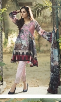 Front:  1.25 Mtr Digital Lawn Print Emb Patch Back:  1.25 Mtr Digital Lawn Print  Sleeves:  0.65 Mtr Digital Print Dupatta:  2.5 Mtr Krinkle Digital Print  Trouser:  2.5 Mtr Dyed Plain Emb Patch