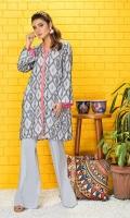 Shirt: 2.75 Mtr Lawn Karandi Digital Print Trouser: 2.5 Mtr Lawn Karandi Dyed Plain