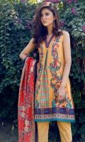 3 Piece 2.5 mtr Bambo Slub Front+Back 2.5 mtr Wool Shawl 2.5 mtr Dyed Plain Trouser