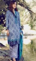 3 Piece 3 mtr Bambo Slub Shirt 2.5 mtr Bambo Slub Dubatta 2.5 mtr Dyed Plain Trouser