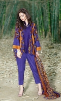 3 Piece 2.75 mtr Printed Wool Khaddar Shirt 2.5 mtr Printed Wool Khaddar Dubatta 2.5 mtr Dyed Plain Trouser