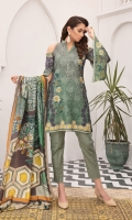 Piece: 3Pcs Front: 1.25 Mtr Modal Digital Print Back: 1.25 Mtr Modal Digital Print Sleeves: 0.65 Mtr Modal Digital Print Shawl: 2.5 Mtr Silk Shawl Digital Print Trouser: 2.5 Mtr Dyed Plain