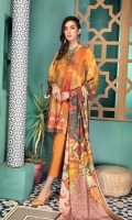 Piece: 3Pcs Front: 1.25 Mtr Modal Digital Print Back: 1.25 Mtr Modal Digital Print Sleeves: 0.65 Mtr Modal Digital Print Shawl: 2.50 Mtr Silk Viscose Digital Print Trouser: 2.50 Mtr Dyed Plain