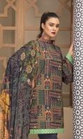 Piece: 3Pcs Shirt: 2.75 Mtr Bamboo Slub Khaddar Digital Print Dupatta: 2.50 Mtr Krinkle Digital Print Trouser: 2.50 Mtr Dyed Plain
