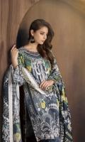 3 Piece  Shirt: 2.75 Mtr Digital Print Viscous Jacquard  Dubatta: 2.5 Mtr Digital Silk viscous Shawl  Trouser: 2.35 Mtr Dyed Plain Viscous