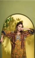 2 Piece  Shirt: 2.75 Mtr Digital Print Cotton Khaddar  Trouser: 2.5 Mtr Dyed Plain