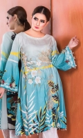 Embroidered Slub Linen One Peice Kurti
