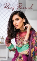 Digital Printed Lawn Shirt With Embroidered Neck Digital Print Chikankari Sleeves Digital Swiss Voil Dupatta Dyed Cambric Trouser