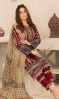 3 PIECE TABLE PRINT LAWN FABRIC FOR SHIRT , TABLE PRINT CHIFFON FABRIC FOR DUPATTA , DYED CAMBRIC FABRIC FOR TROUSER / SHALWAR.