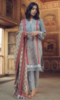 Kashmiri Embroidered Front Kashmiri Embroidered Back Kashmiri Embroidered Sleeves Embroidered Ebmroidered Sleeves & Front Border Lace  Wool Shawl Plain Trouser