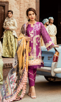 Embroidered Front Digital Printed Back Embroidered Sleeves Digital Printed Pure Silk Dupatta Dyed Trouser Embroidered Charmouse Patch for Daman