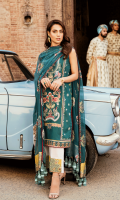 Digital Printed Embroidered Front Digital Printed Back Digital Printed Sleeves Chiffon Embroidered Dupatta Dyed Trouser Digital Printed Charmouse Silk Dupatta Patch  Charmouse Silk Embroidered Trouser Patch  Embroidered Neckline
