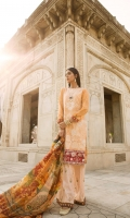 Embroidered Lawn Front Digital Printed Lawn Back Digital Printed Lawn Sleeves Digital Printed Silk Dupatta Digital Printed Trouser Embroidered Charmeuse Border