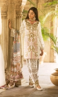 Embroidered Jacquard Lawn Front Digital Printed Jacquard Lawn Back Embroidered Jacquard Lawn Sleeves Digital Printed Silk Dupatta Jacquard Trouser Embroidered Lace for Trouser