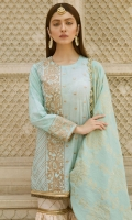 Embroidered Lawn Front Digital Printed Lawn Back Digital Printed Lawn Sleeves Jacquard Dupatta Printed Trouser 1 Embroidered Patch for Dupatte Pallu Embroidered Lace for Sleeves
