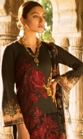 Embroidered Jacquard Lawn Front Digital Printed Jacquard Lawn Back Digital Printed Jacquard Lawn Sleeves Digital Printed Chiffon Dupatta Plain Trouser Charmeuse Patch for Front Embroidered Lace for Trouser