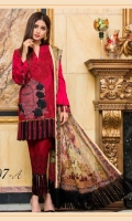 Embroidered Front Printed Back Printed Sleeves Digital Chiffon Dupatta Printed Trouser Embroidered Patch for Front
