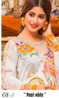 Embroidered Front Printed Back Printed Sleeves Embroidered Net Dupatta Printed Trouser One Embroidered Patch for Trouser