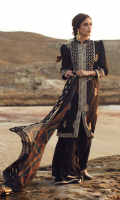 DORRI EMBROIDERED FRONT PEARL PRINTED BACK PEARL PRINTED SLEEVES DORRI EMBROIDERED BORDER FOR SLEEVES DORRI EMBROIDERED NECKLINE EMBROIDERED FRONT LACE EMBROIDERED TROUSER LACE BLOCK PRINTED CHIFFON DUPATTA DYED TROUSER