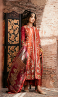 Embroidered Front Digital Printed Back Digital Printed Sleeves Digital Printed Silk Dupatta Laser Cut Trouser Embroidered Ban Patti Embroidered Border Embroidered Neckline Dorri Work Lace