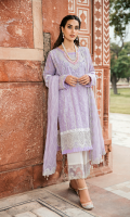 Schiffli Embroidered Front Jacquard Back Jacquard Sleeves Embroidered Chiffon Dupatta Plain Trouser Embroidered Neckline Embroidered Daman Patch Embroidered Trouser Patch Embroidered Lace for Dupatta