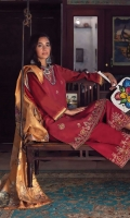3pc embroidered lawn suit