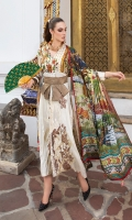 Embroidered Front Digital Printed Back Digital Printed Sleeves Digital Printed silk Dupatta Dyed trouser Embroidered Trouser Lace