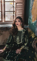 Embroidered Front Plain Back Embroidered Sleeves Embroidered Daman Lace for Front & Back Raw Silk Trouser Embroidered Trouser Lace Banarsi Dupatta