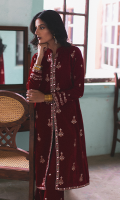 Embroidered Front Embroidered Back Embroidered Sleeves Sheesha Embroidered Lace for Front Sheesha Embroidered Velvet trouser Sheesha Embroidered Lace for Trouser