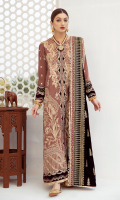 Sheesha Embroidered Front Sheesha Embroidered Bodice (Front) Embroidered Lace (Front) Gota Embroidered Border on Charmeuse Silk (Front, Back & Sleeves) Embroidered Back Embroidered Motif (Back) Gota Embroidered Sleeves Gota Embroidered Lace for Dupatta (Four Sides) Digital Printed Dupatta on Organza