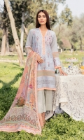 Qalamkari Embroidered Front on Chanderi Digital Printed Back on Chanderi Plain Sleeves on Chanderi Digital Printed Chiffon Dupatta Dyed Trouser