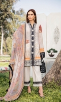 Digital Printed Shirt Digital Printed Chiffon Dupatta Dyed Trouser Embroidered Lace Embroidered Border