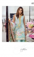 Embroidered Front Digital Printed Back Digital Printed Sleeves Digital Printed Egyptian Lawn Dupatta Dyed Trousers Embroidered Neckline Embroidered Patches for Trousers