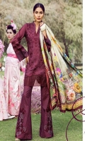 Embroidered Front Digital Printed Back Digital Printed Sleeves Digital Printed Egyptian Lawn Dupatta Printed Trousers Embroidered Patches for Trousers