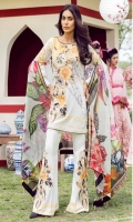 Printed Front Printed Back Printed Sleeves Digital Printed Egyptian Lawn Dupatta Printed Trousers Embroidered Front Patch Embroidered Patches for Trousers
