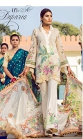 Embroidered Front Digital Printed Back Digital Printed Sleeves Digital Printed Egyptian Lawn Dupatta Dyed Trousers Embroidered Sleeves' Lace Embroidered Patches for Trousers
