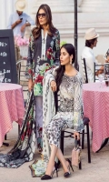 Embroidered Front Digital Printed Back Digital Printed Sleeves Digital Printed Egyptian Lawn Dupatta Dyed Trousers Embroidered Patches for Trousers