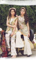 Embroidered Front Printed Back Printed Sleeves Chiffon Dupatta Printed Trouser