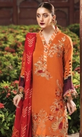 Embroidered Cottel Linen Unstitched 3 Piece Suit