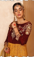 Heavy Embroidery and Stone Work Shirt Rich Velvet Shawl Trouser