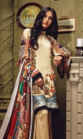 Digital Printed jacquard Shirt with Embroidered Front Dyed Linen Trouser Digital Printed Viscose Shawl