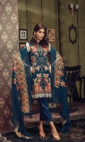 Embroidered Jacquard Shirt Front Digital printed Jacquard Back & Sleeves Dyed Linen Trouser Embroidered Chiffon Dopatta Embroidered Lace